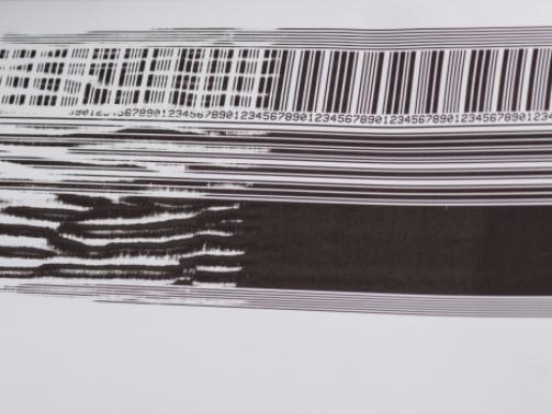 Resultaat van defecte printkop