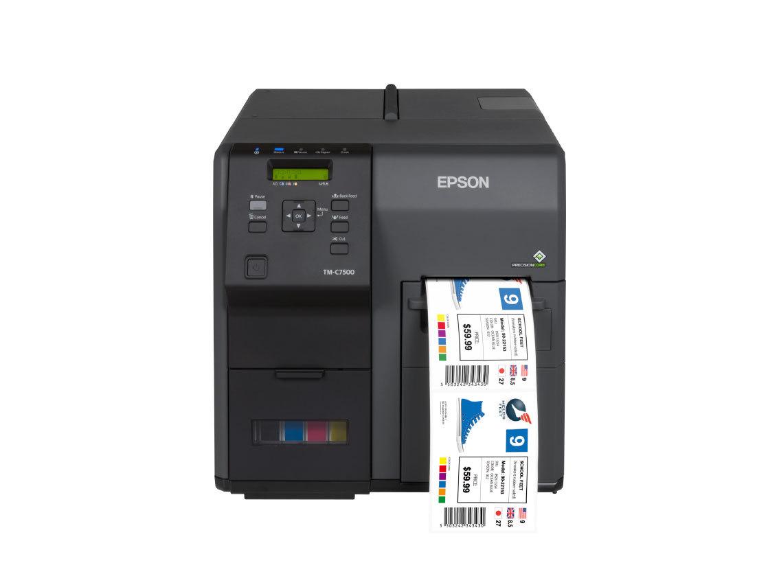 Kleuren label printer Epson TM-C7500