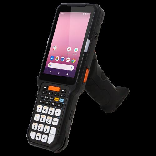 Mobiele barcode scanner van Point Mobile PM451 met pistool greep